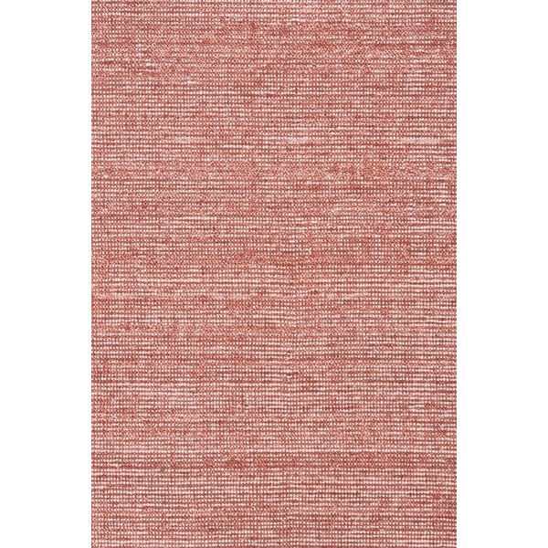 Deep Red Contemporary / Modern Area Rug