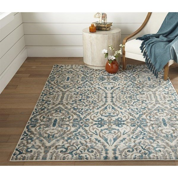 Turquoise Traditional / Oriental Area Rug
