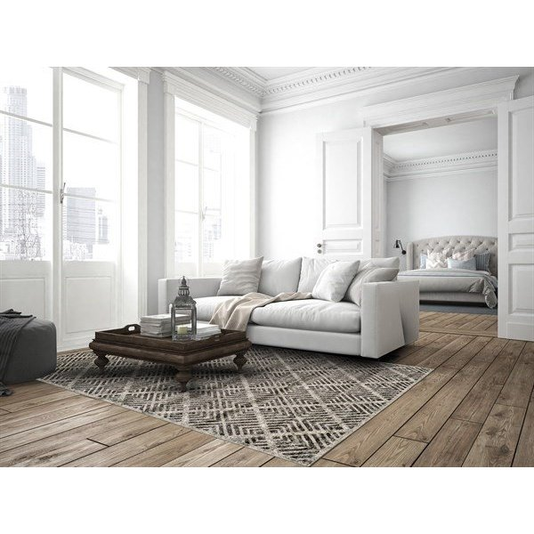 Castle, Taupe Contemporary / Modern Area Rug