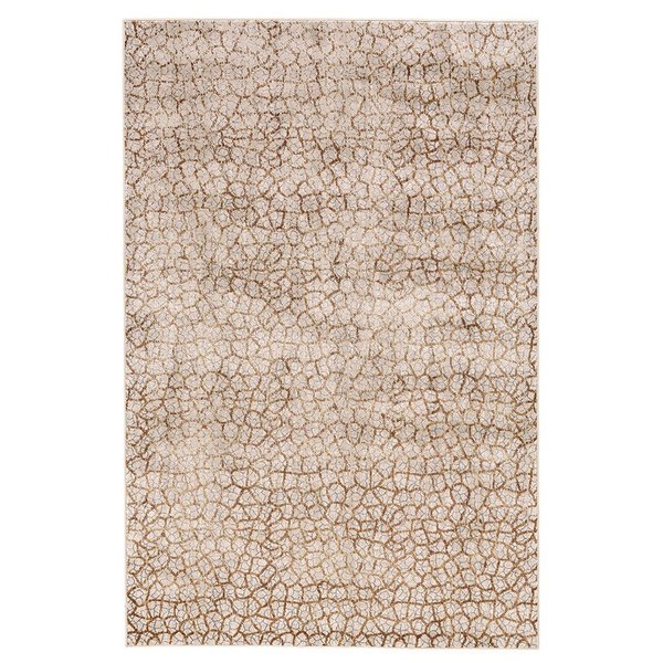Light Grey, Brown Contemporary / Modern Area Rug