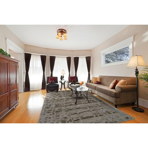 Pewter Solid Area Rug