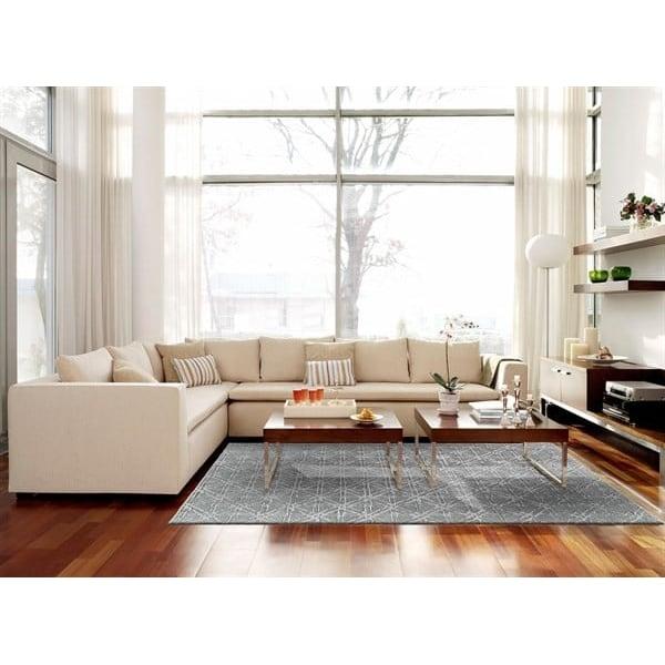 Grey, Silver Contemporary / Modern Area Rug