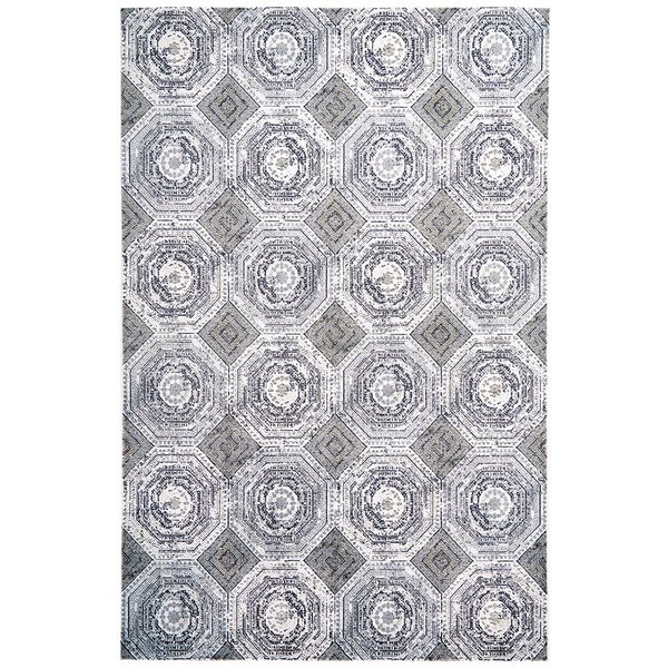 White, Sterling Contemporary / Modern Area Rug
