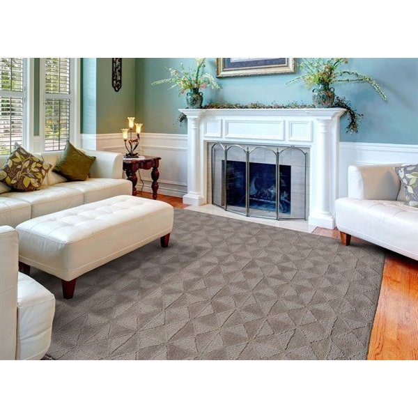 Cool Gray Solid Area Rug