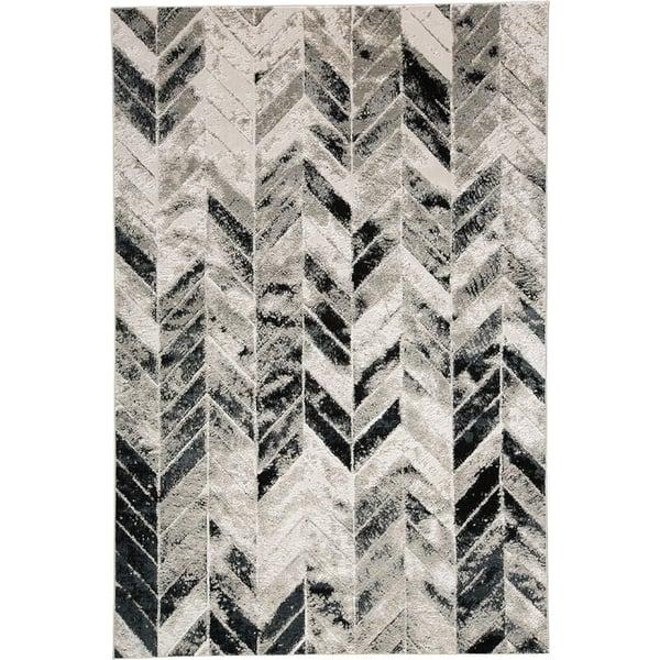 Grey, Silver Chevron Area-Rugs