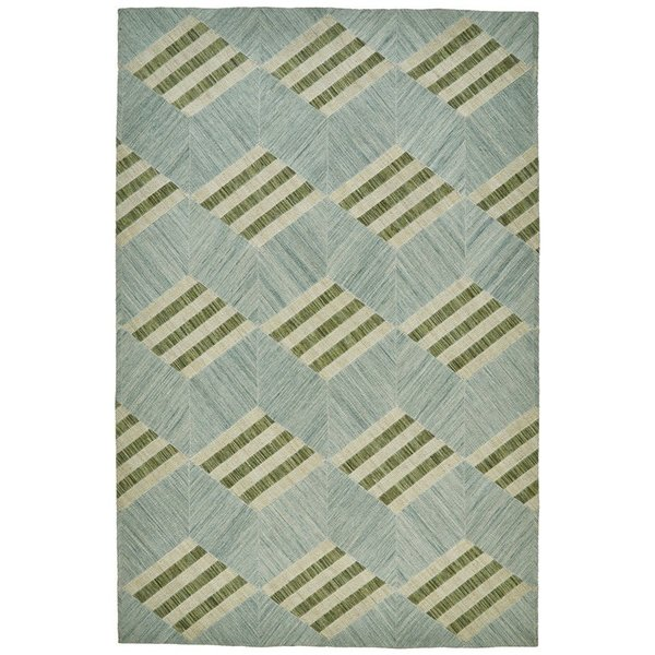 Light Turquoise Contemporary / Modern Area Rug