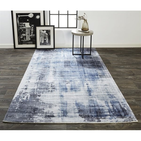 Blue Abstract Area Rug