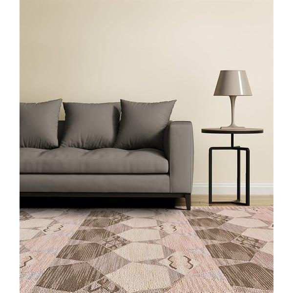 Grey, Taupe Geometric Area-Rugs