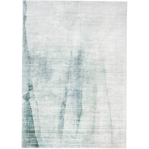 Green Abstract Area Rug