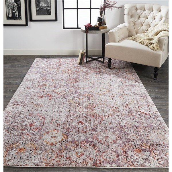 Pink, Grey Vintage / Overdyed Area-Rugs