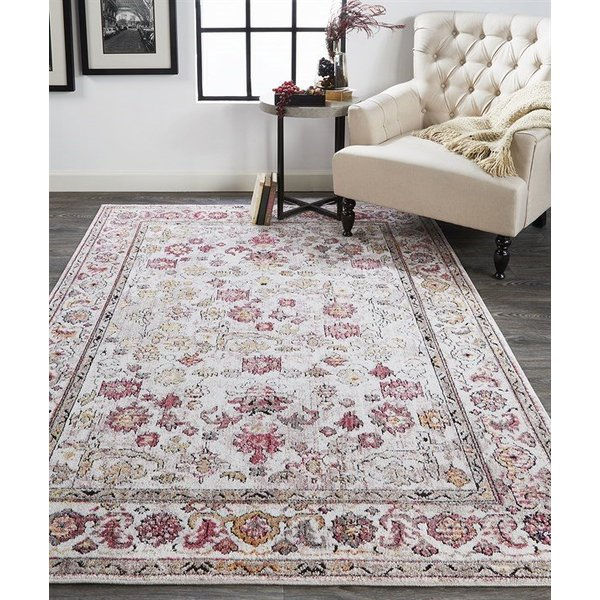 Pink, Ivory Contemporary / Modern Area-Rugs