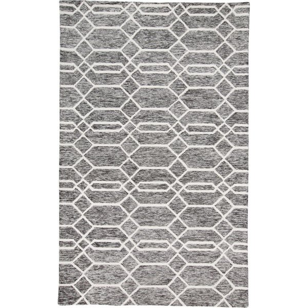 Charcoal, Ivory Contemporary / Modern Area-Rugs