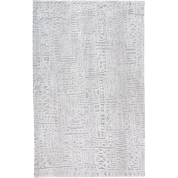 Grey Abstract Area-Rugs