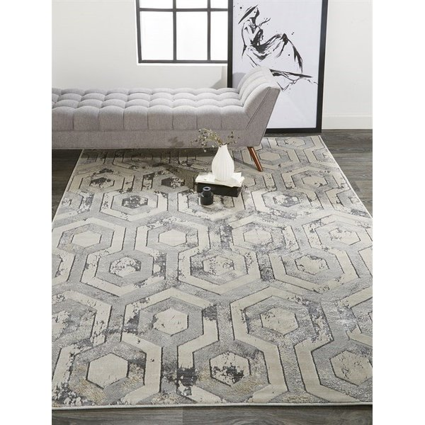 Beige, Grey Contemporary / Modern Area-Rugs