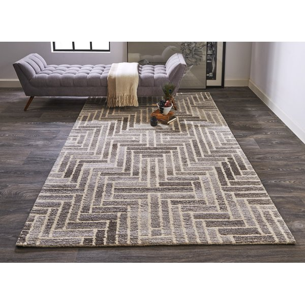 Taupe, Natural Contemporary / Modern Area-Rugs