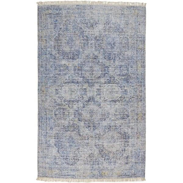 Blue Bohemian Area-Rugs