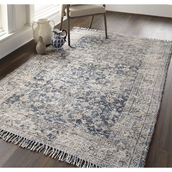 Slate, Light Grey Traditional / Oriental Area-Rugs