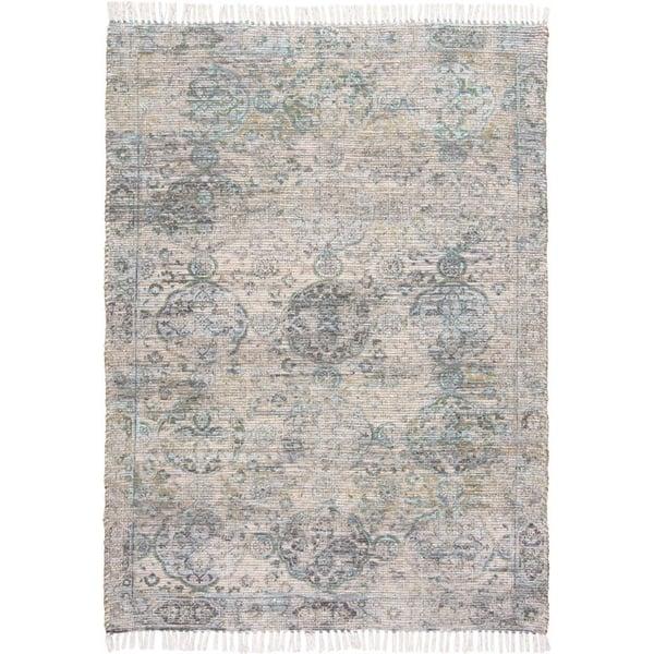 Tan, Green Traditional / Oriental Area-Rugs