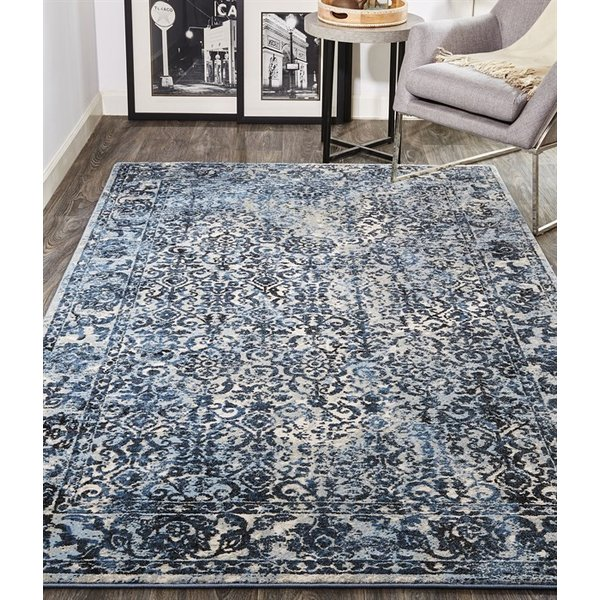 Blue, Charcoal Vintage / Overdyed Area-Rugs