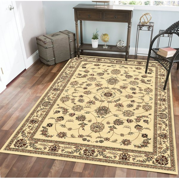 Ivory  Traditional / Oriental Area-Rugs