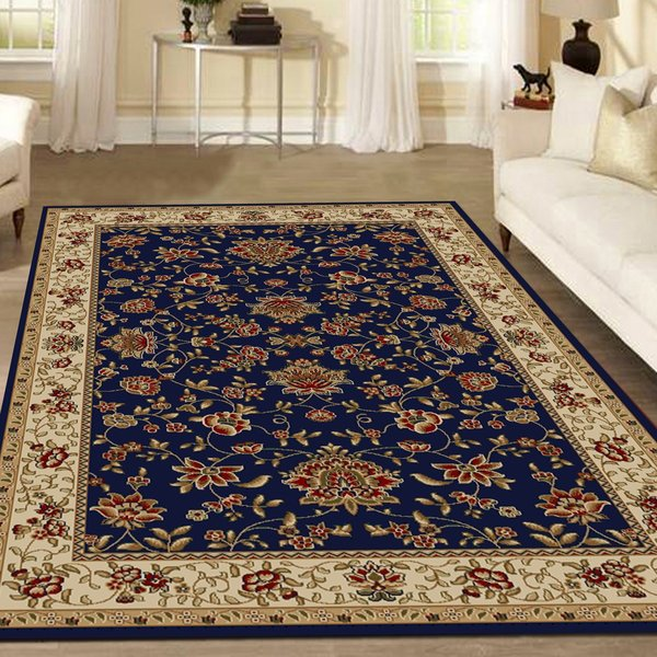 Navy Traditional / Oriental Area-Rugs