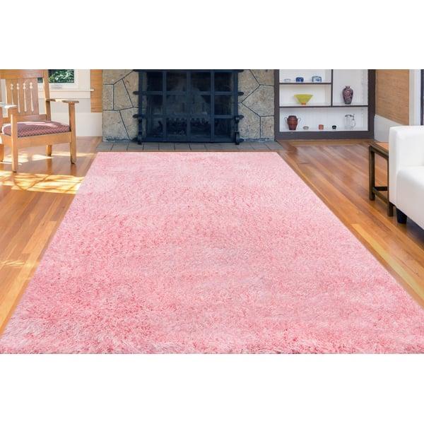 Pink (MET-44) Shag Area Rug
