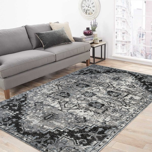 Ivory, Grey (ALX-49) Traditional / Oriental Area-Rugs