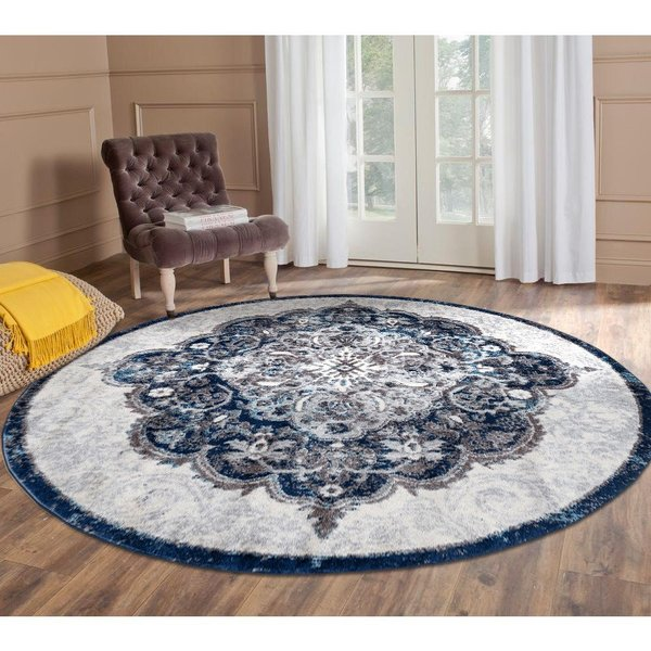 Ivory, Navy (ALX-86) Traditional / Oriental Area-Rugs