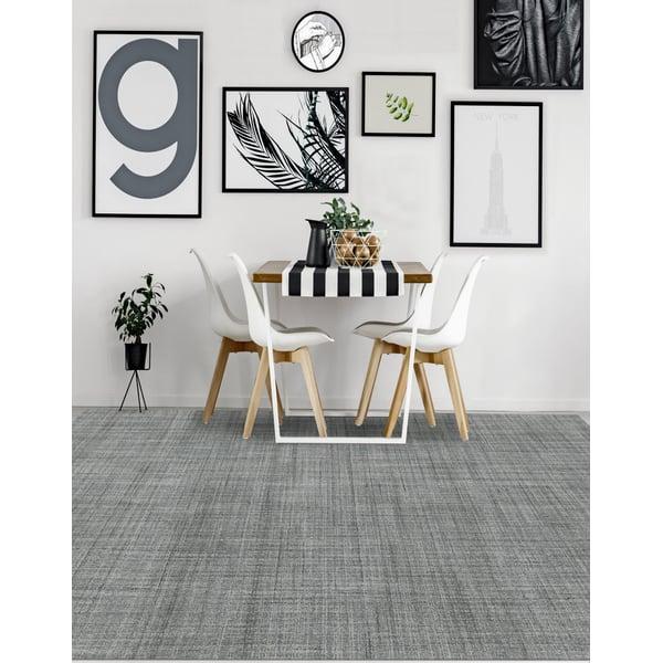 Light Blue, Grey, Cream (LAU-06) Contemporary / Modern Area Rug
