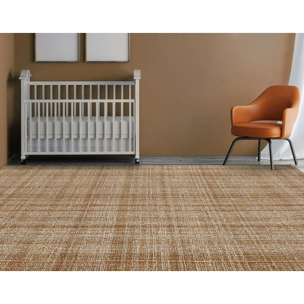 Orange, Cream (LAU-11) Contemporary / Modern Area Rug