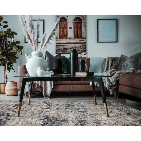 Ivory, Grey (BLM-06) Traditional / Oriental Area Rug