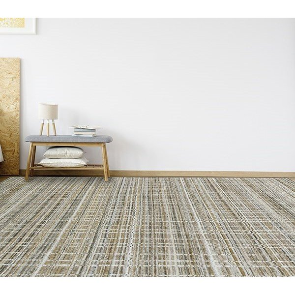 Gold, Grey (PRD-03) Contemporary / Modern Area-Rugs