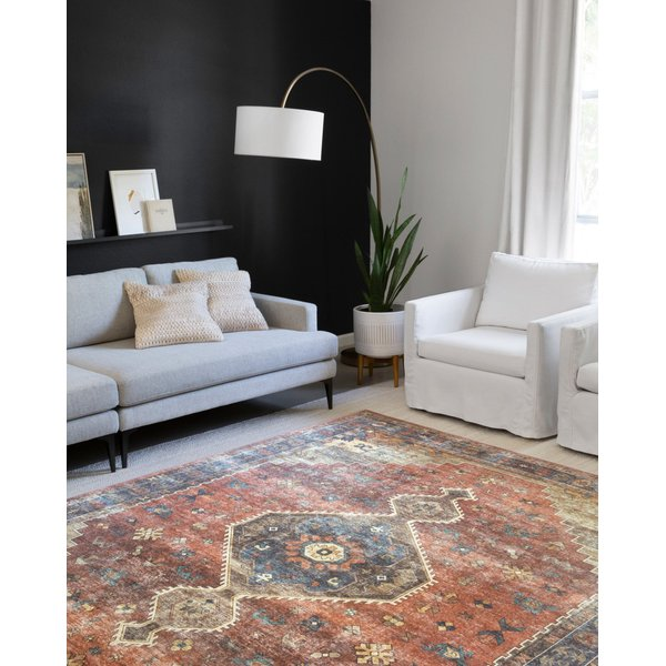 Rust, Blue Traditional / Oriental Area-Rugs