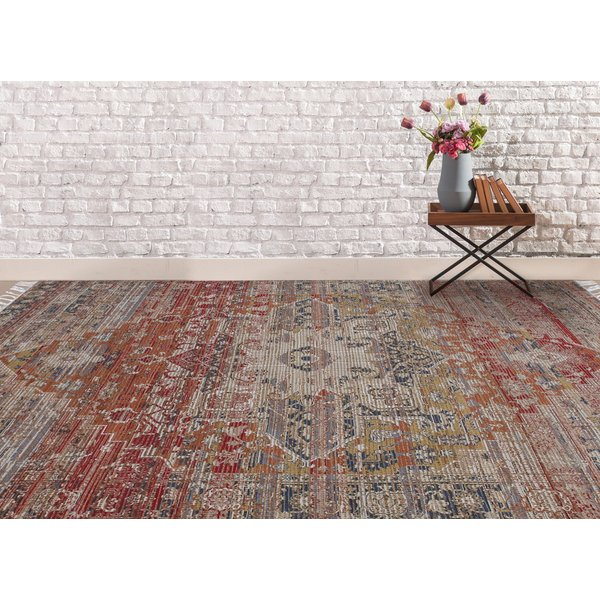 Pink, Blue, Grey (PRE-03) Vintage / Overdyed Area-Rugs