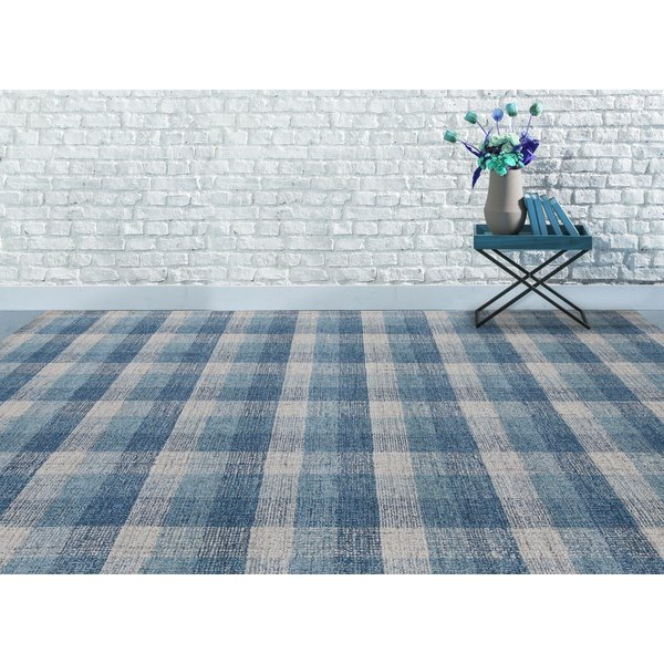 Blue (TRA-11) Country Area Rug