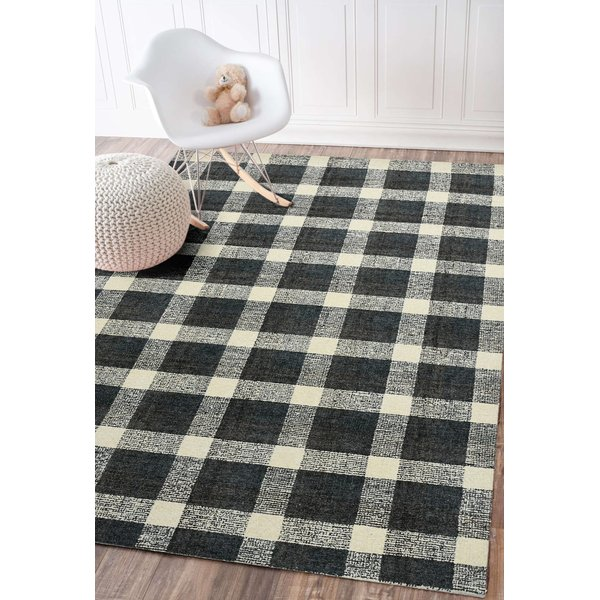Charcoal (TRA-06) Country Area-Rugs