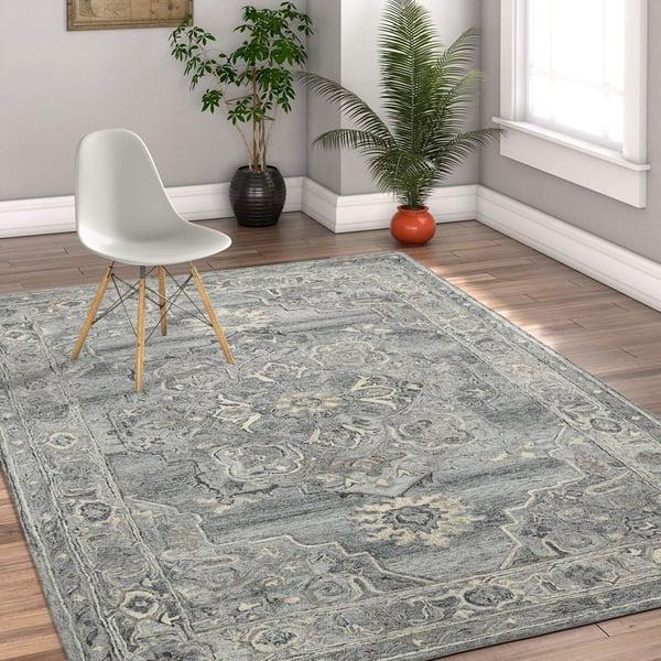 Grey (VES-07) Traditional / Oriental Area Rug