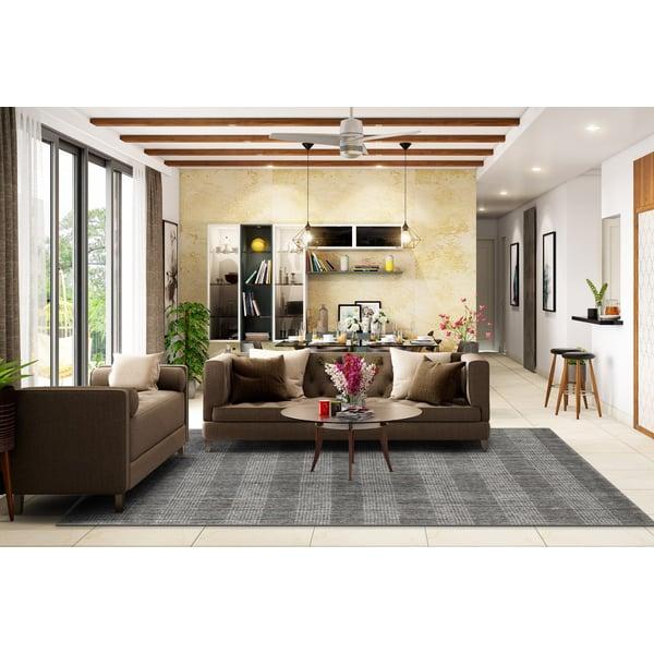 Gray (BRK-1) Contemporary / Modern Area Rug
