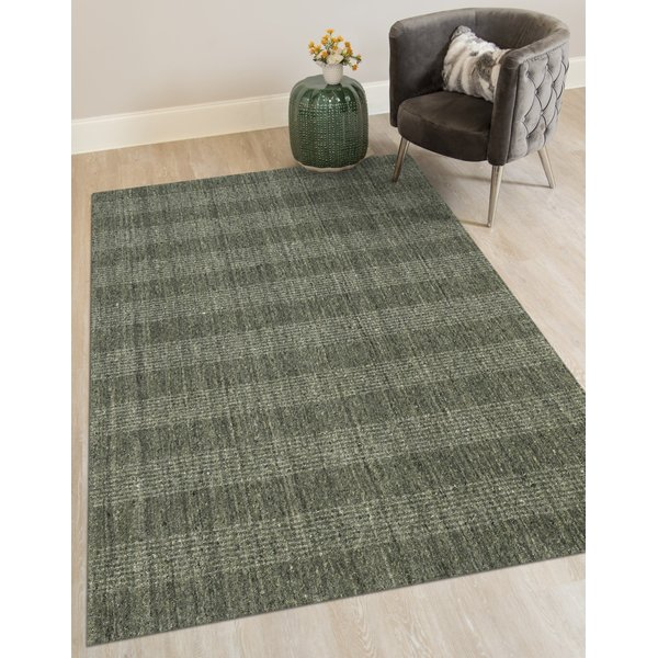 Olive Green (BRK-3) Contemporary / Modern Area Rug