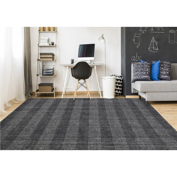 Charcoal (BRK-5) Contemporary / Modern Area Rug