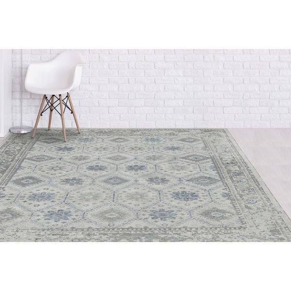 Beige, Blue, Grey (DIV-2) Traditional / Oriental Area Rug