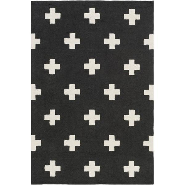 Black, White (HDA-2391) Contemporary / Modern Area Rug