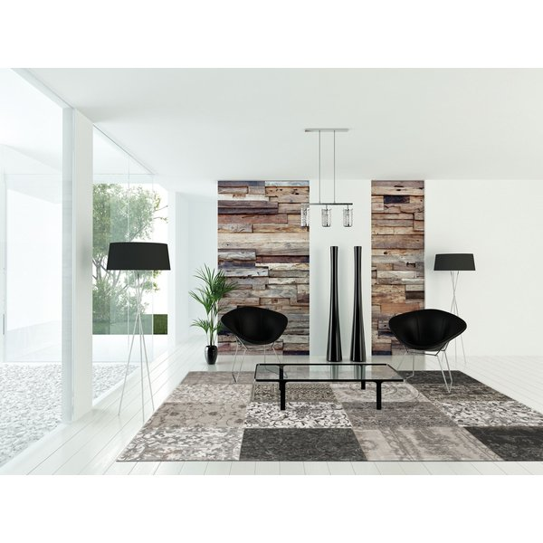 Black and White (8101) Contemporary / Modern Area Rug