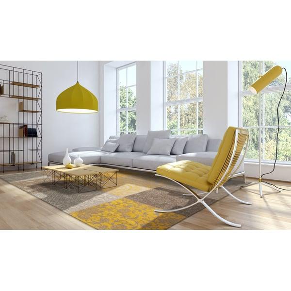 Yellow (8084) Contemporary / Modern Area Rug