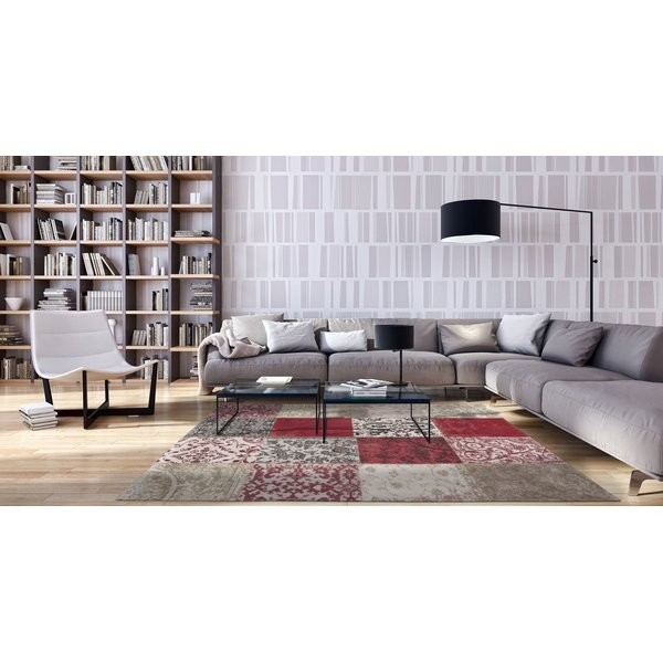 Antwerp Red (8985) Contemporary / Modern Area-Rugs