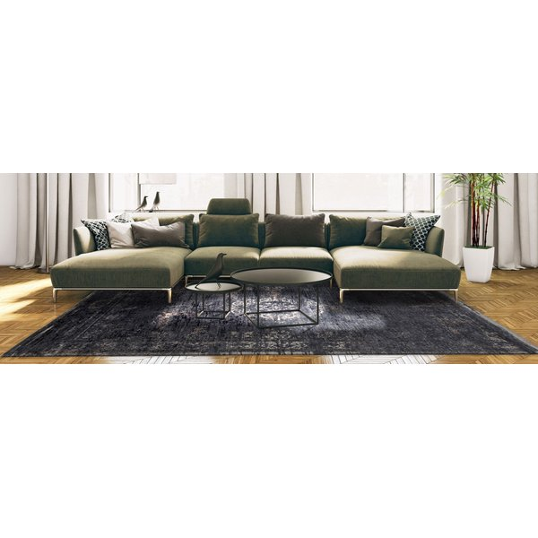 Mineral Black (8263) Traditional / Oriental Area Rug
