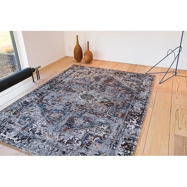 Divan Blue (8707) Vintage / Overdyed Area-Rugs