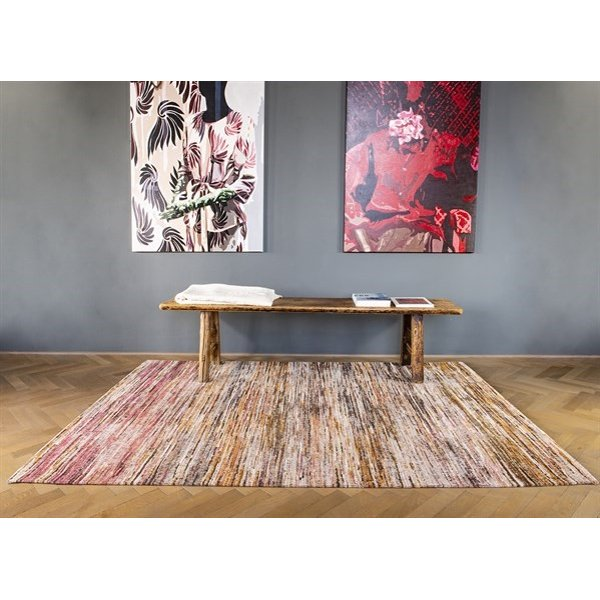 Pink, Brown, White (8876) Contemporary / Modern Area Rug
