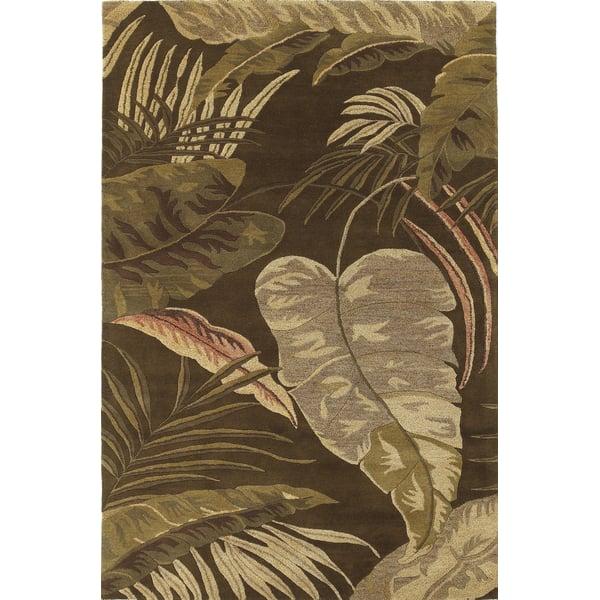 Mocha (2615) Floral / Botanical Area-Rugs