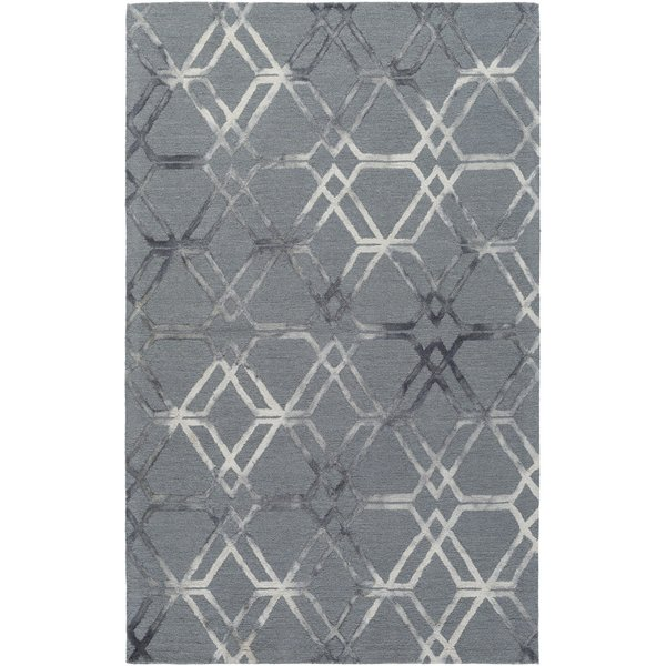 Medium Gray, Cream, Charcoal Contemporary / Modern Area Rug